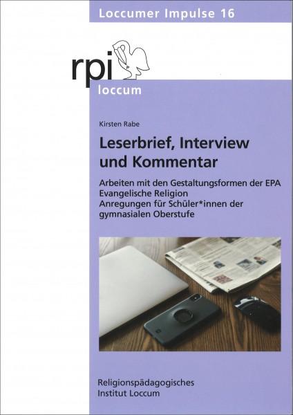 Leserbrief, Interview und Kommentar