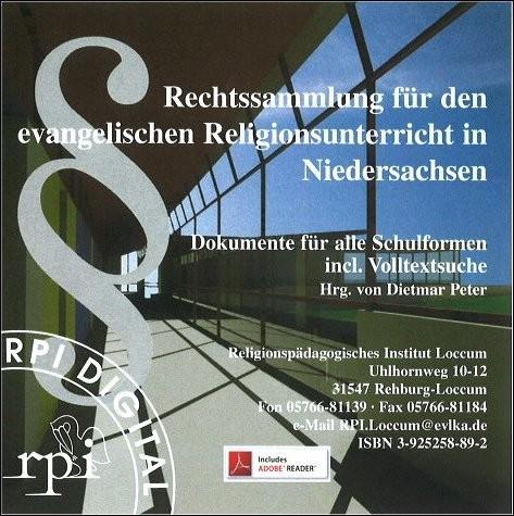Rechtssammlung für den evangelischen Religionsunterricht in Niedersachsen (CD)